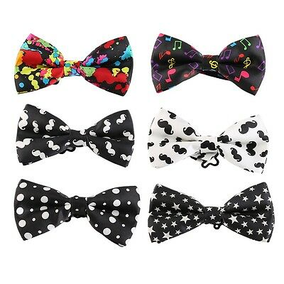 Fashion Unisex Polyester Printing Necktie Bow Tie Butterfly Tie Multicolor XY