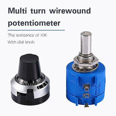 10K Ohm 3590S-2-103L With 10 Turn Counting Dial Rotary Potentiometer Pot