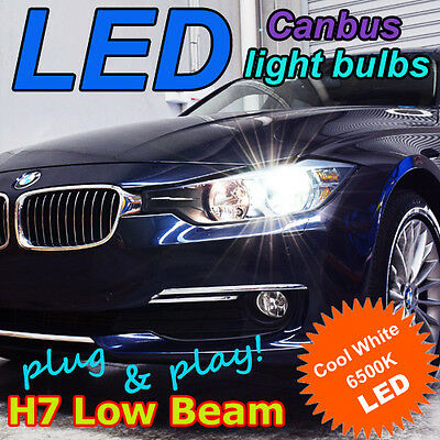 "BMW F30 3-Series Canbus LED Headlight Bulb Kit, H7 Low Beam 6500K ""HID White"""