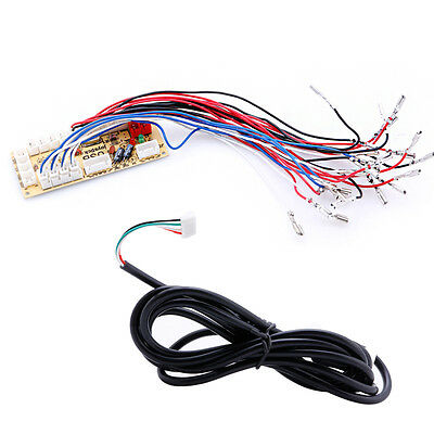 Zero Delay USB Encoder To PC LED Joystick and Buttons For Arcade diy kit Parts