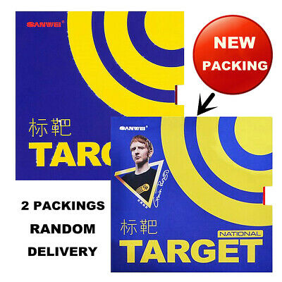 Genuine Sanwei TARGET ( National, Blue Sponge ) Pips In Table Tennis Rubber RED