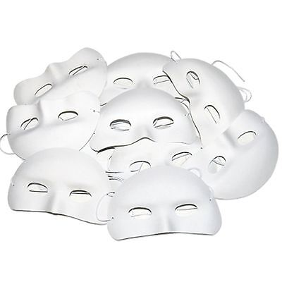Childrens Half Face Masks Pack of 10 Ready to Decorate Mask Making Masquerade