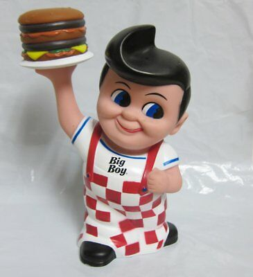 8 inch Big Boy Burgers Restaurant Plastic Coin Bank