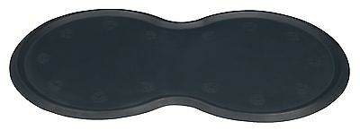 Natural Rubber Dark Grey Non-Slip Place Mat with Raised Rim for Dog Cat Bowls