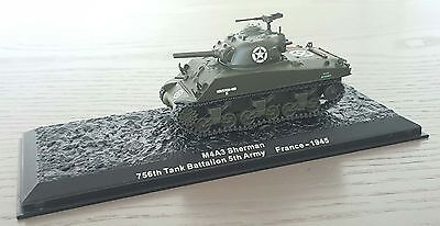 MILITARY MODEL 1:72 Sherman M4A3 756th Tank Battalion 5th Army France 1945