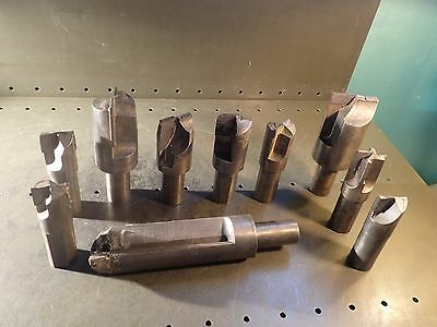 "10 Pc lot Carbide Tipped Drills End Mill & Form Tools 1-1/2"" Straight Shank"