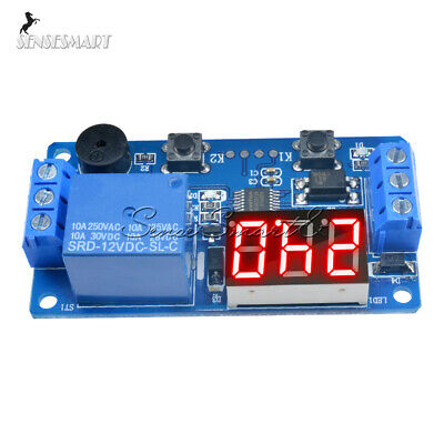 12V LED Display Delay Timer relay Control Programmable Switch Module Car Buzzer