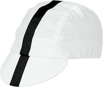 NEW Pace Sportswear Classic Cycling Cap White with Black Tape