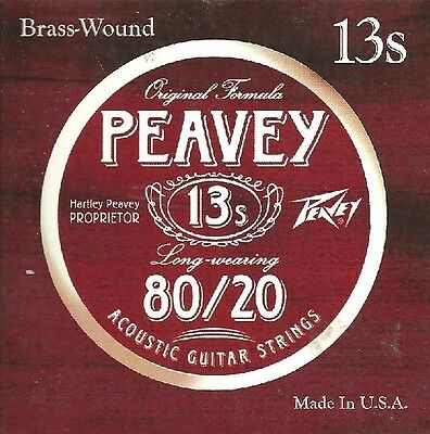 Peavey Jeu de corde Guitare Acoustique Brass Wound Made in USA 13-56 - 13S