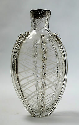 Early 19th century Nailsea glass flask c1820