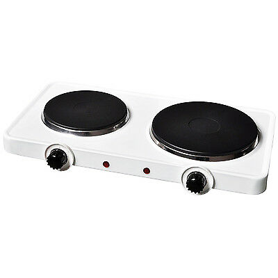 NEW! 2.5Kw Electric Portable Kitchen Dual Twin Hot Plate