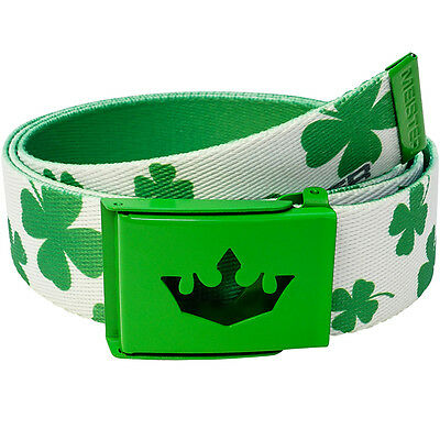 "MEISTER PLAYER GOLF WEB BELT - FITS UP TO 42"" Pants Shorts Nike - LUCKY CLOVERS"