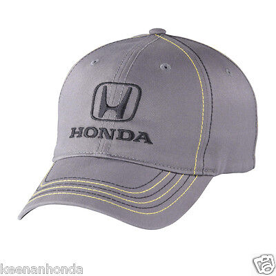 Genuine OEM Honda Lifestyle Collection Gray Stitch Fitted Hat / Fit Cap