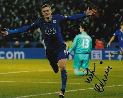 JAMIE VARDY LEICESTER CITY ENGLAND MOTD SIGNED 10x8 INCH LAB PRINTED PHOTO