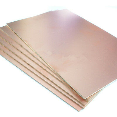 5x Copper Clad Laminate Circuit Boards FR2 PCB Single Side 12cmx18cm