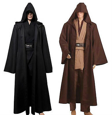 Star Wars Jedi Knight Cloak Adult Robe Cosplay Costume Hooded Cape Halloween