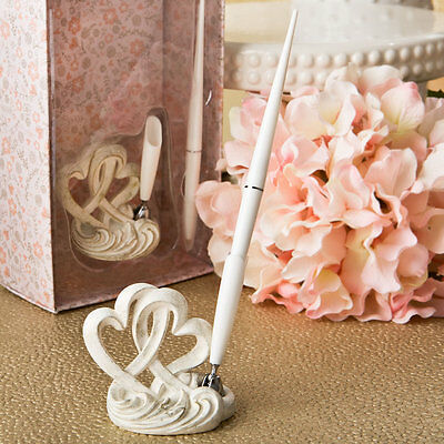 Vintage style double heart design pen set 2470