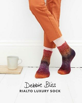 Debbie Bliss Db082 Single Pattern Booklet Rialto Luxury Sock *special Price*