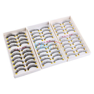 10 Pairs Handmade Soft Natural Thick Long False Fake Eyelashes Eye Lashes Makeup