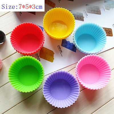 12 pcs 7cm Mini Silicone Cup Cake Pan Mold Muffin Cupcake Form to Bake Kitchen R
