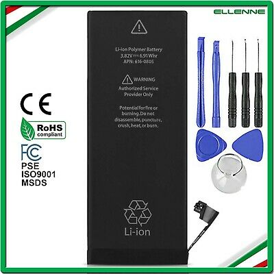 BATTERIA RICAMBIO ORIGINALE PER  APPLE IPHONE 6 1810 mAh  + KIT - ZERO CICLI