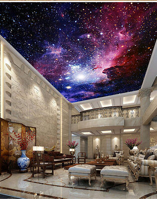Galaxy Nebula Outerspace Ceiling Wall Mural Wall paper Decal Wall Art Business