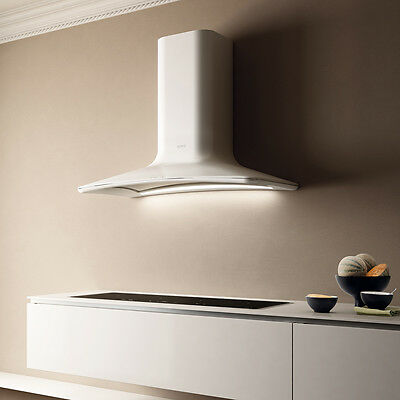 Elica Sweet (Dolce) Adward winning White Wall Mounted Chimney Cooker Hood 85cm