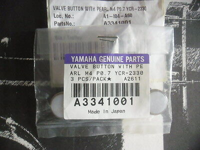 YAMAHA A3341001 Valve button with pearl M4 PO.7 YCR2330 (3 pieces) -NEW