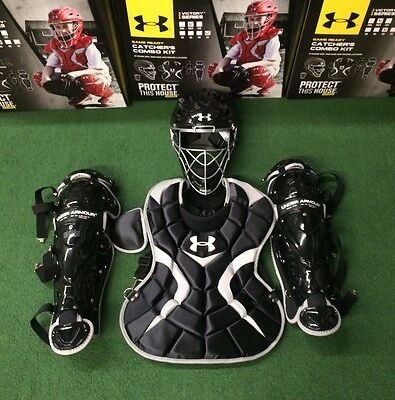 Under Armour Youth 7-9 Victory Series Catcher's Gear Set UACK-YVS - Black