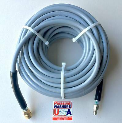 """100' 4000 PSI 3/8"""" Non-Marking Pressure Washer Hose w/ Quick Coupler Assembly"""
