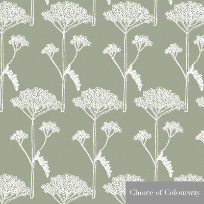 Designer Sewing Craft Upholstery Curtain Floral Fabric Yarrow Cotton Linen Metre