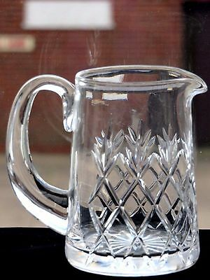 Lovely Crystal Cut Glass Milk Jug