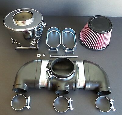 Kawasaki H1 500 Rubber Air Intake Chrome Assembly Complete