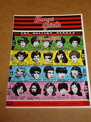 "Rolling Stones ""Some Girls"" 1978 song book"
