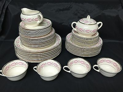 Vintage W.S. George China RARE Rhapsody Pattern 44 Pieces GUC
