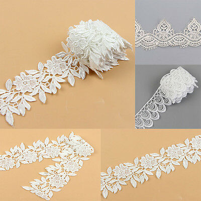 1 Yard DIY Lace Trim Ribbon Bridal For Wedding Dress Embroidered Sewing Craft