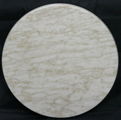 New Cafe Table TOP Restaurant Furniture Rnd Outdoor Tables Tops 60cm Marblewhite