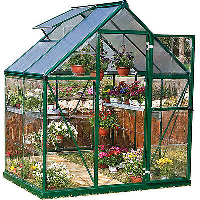 Palram Nature Series Hybrid Hobby Greenhouse, 6' x 4', Forest Green