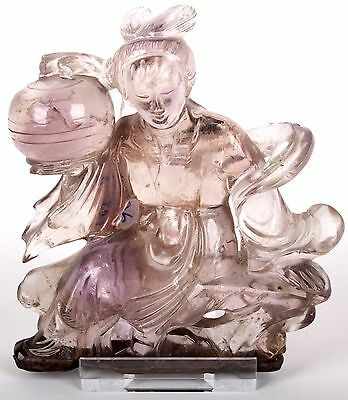China 20. Jh. A Chinese Hardstone Figure Of A Female Immortal - Cinese Chinois