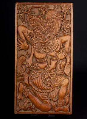 Indonesien 20. Jh. Zigarren / Holz Kiste -A Carved Wood Cigarette Box, Indonesia