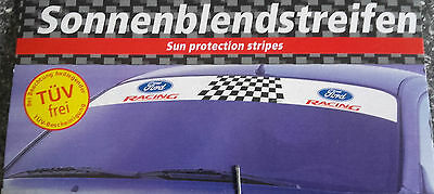2 x Blendstreifen Ford Racing 125 x 15 cm