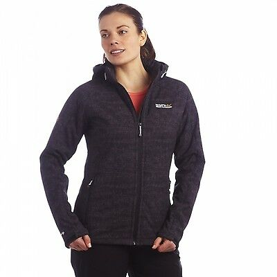Regatta Tallis Womens Hooded Active Fit Softshell Jacket Black