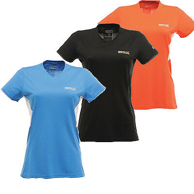 Regatta Jamie Womens Technical Sports Wicking Base Layer Tee T-Shirt