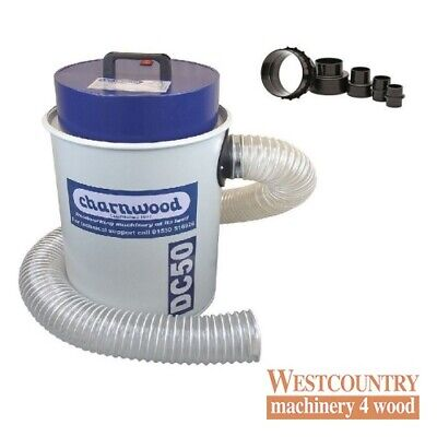Charnwood DC50 High Filtration Vacuum Extractor 50 litre PACKAGE