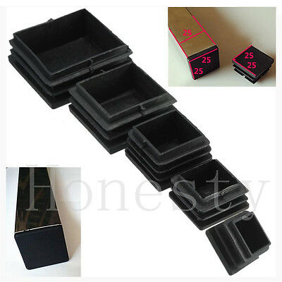 5~30X Plastic Black Blanking End Cap Square Tube Inserts Pipe Box 25/30/40/50mm