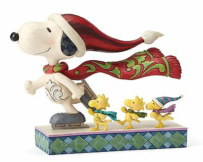Jim Shore Peanuts Skate Mates Snoopy and Woodstock Figure Ornemant 13cm 4052718