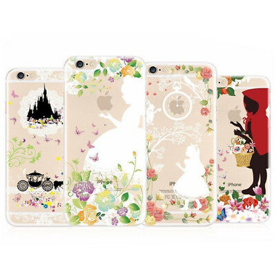 Phone Shell Disney Hot Cute Cartoon Silicone TPU Soft Shockproof Back Case Cover