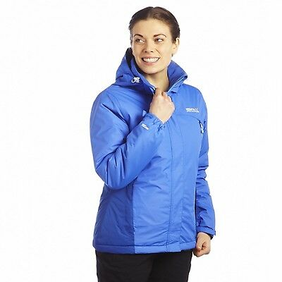 Regatta Solero Womens Waterproof Breathable Isotex Padded Insulated Jacket Blue