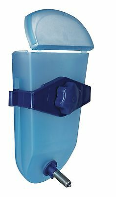 Weather Proof Stainless Blue Plastic Water Bottle for Rat Guinea Pig Cage 250ml