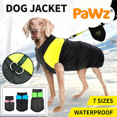 Dog jacket padded waterproof Pet Clothes Warm windbreaker Vest Coat Winter
